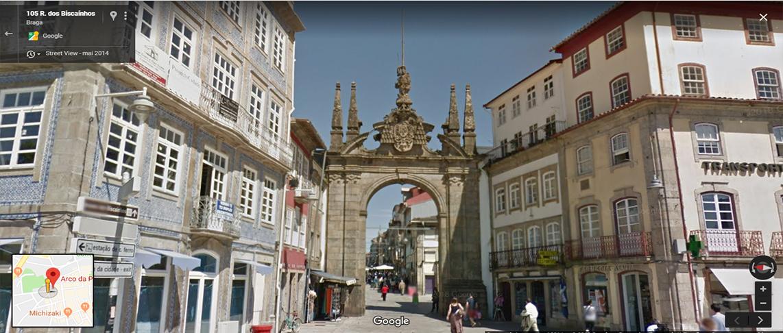 <h4>Fig.10 - Arco da Porta Nova</h4><p>Fig.10 – Arco da Porta Nova – Street View of Braga (2019)</p>