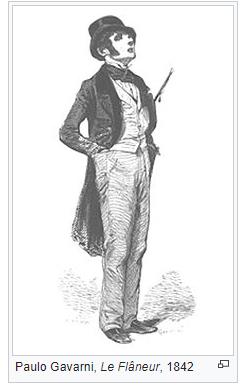 <h4>Fig.01 – Le Flâneur</h4><p>Fig.01 – Le Flâneur |     Crédito: Paulo Gavarni (1842)</p>