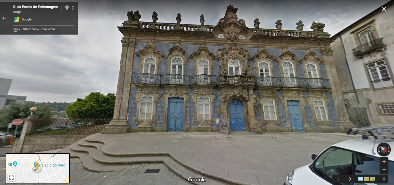 <h4>Fig. 7 - Palácio do Raio</h4><p>Fig.07 – Palácio do Raio –Street View of Braga (2019)</p>