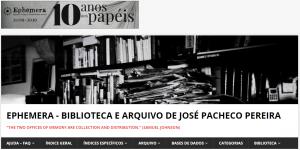 Ephemera – Biblioteca e Arquivo de José Pacheco