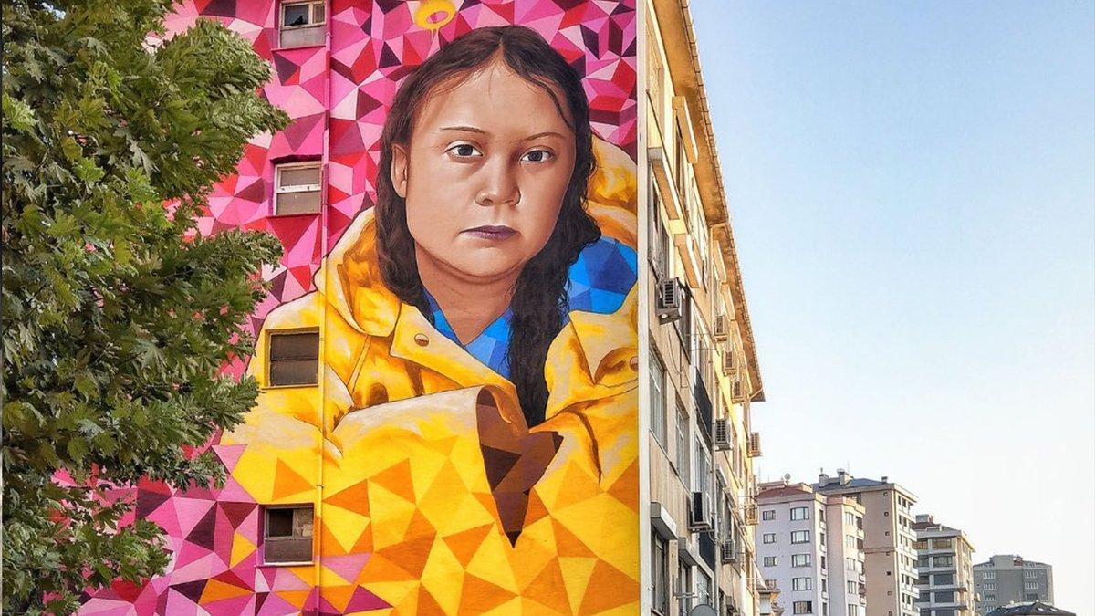 <h4>Greta Thunberg mural</h4><p></p>