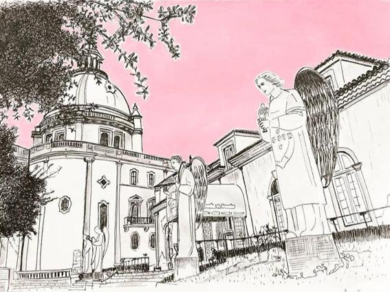 Sketch Santuário do Sameiro | @patriciaelaferreira