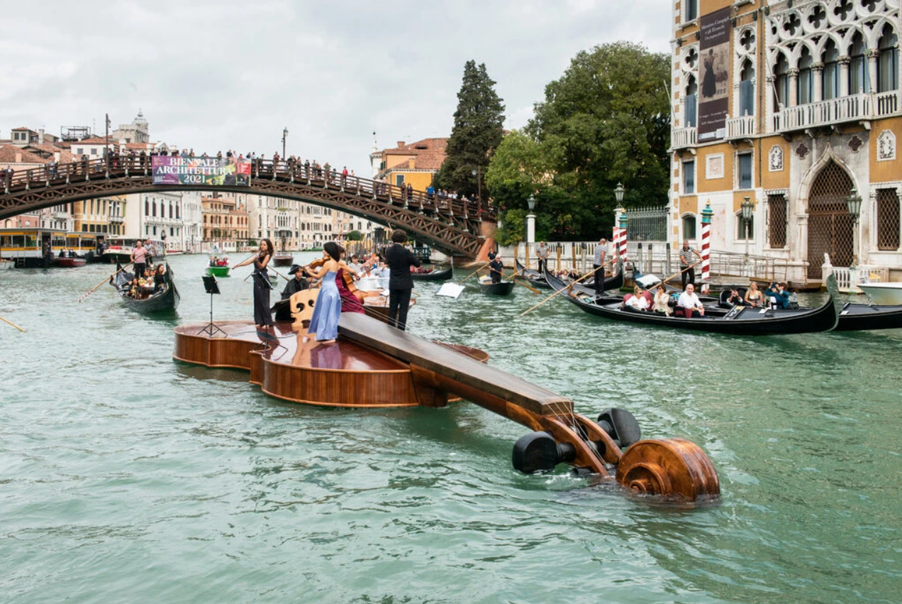 Retrieved from https://www.nytimes.com/2021/09/19/arts/design/violin-venice-grand-canal.html